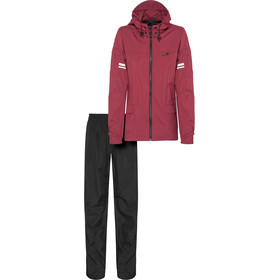 AGU Original Rain Suit maroon/black